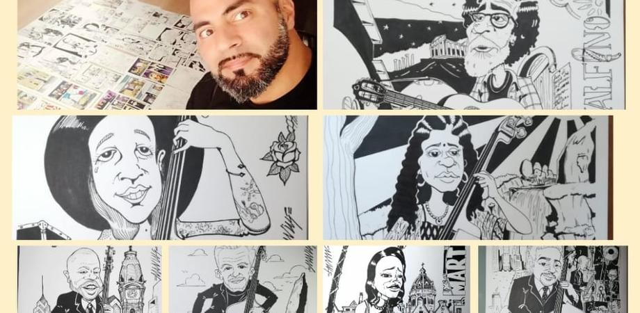 I più grandi artisti della musica rappresentati in fumetti: il sancataldese Stefano Miliziano racconta la sua passione diventata arte
