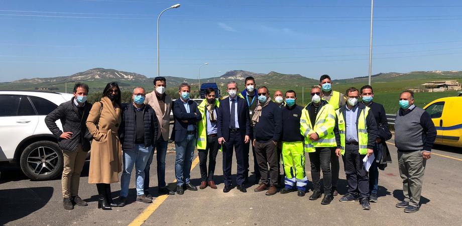 Avvio cantieri sulla Catania-Gela, sopralluogo di Falcone. I lavori saranno completati entro 18 mesi