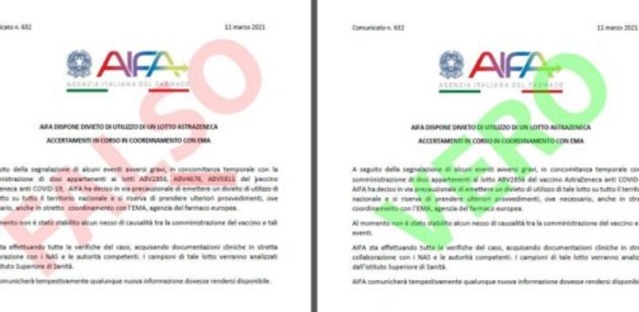 Covid19, attenzione alle fake news sui vaccini: in rete circola un falso comunicato dell'Aifa