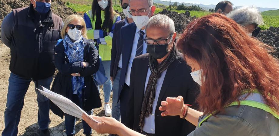 Area archeologica e raddoppio della ferrovia, Falcone e Samonà a Vallelunga