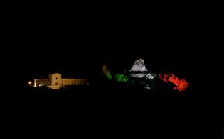Caltanissetta, castello di Pietrarossa: l'Anpi lo illumina con le luci del tricolore