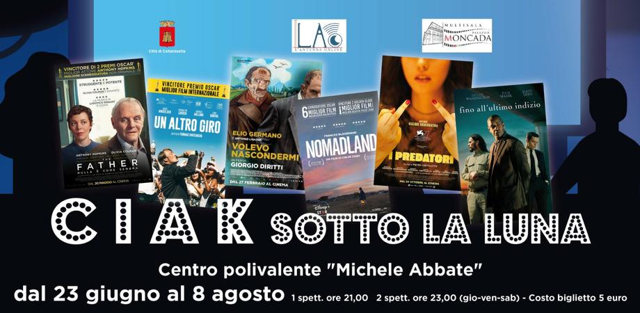 """Caltanissetta, centro polivalente Abbate: al via la rassegna cinematografica """"Ciak sotto la luna"""""""