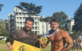 Body builder, ancora una vittoria per Febo Gambacorta: il suo coach è il nisseno Alfonso Curatolo