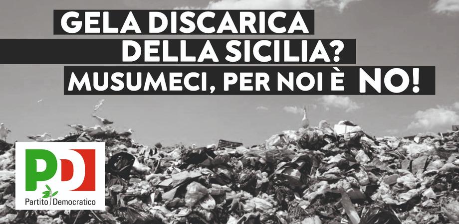 """Gela pattumiera della Sicilia, il Pd tappezza la città di manifesti per dire """"No"""""""