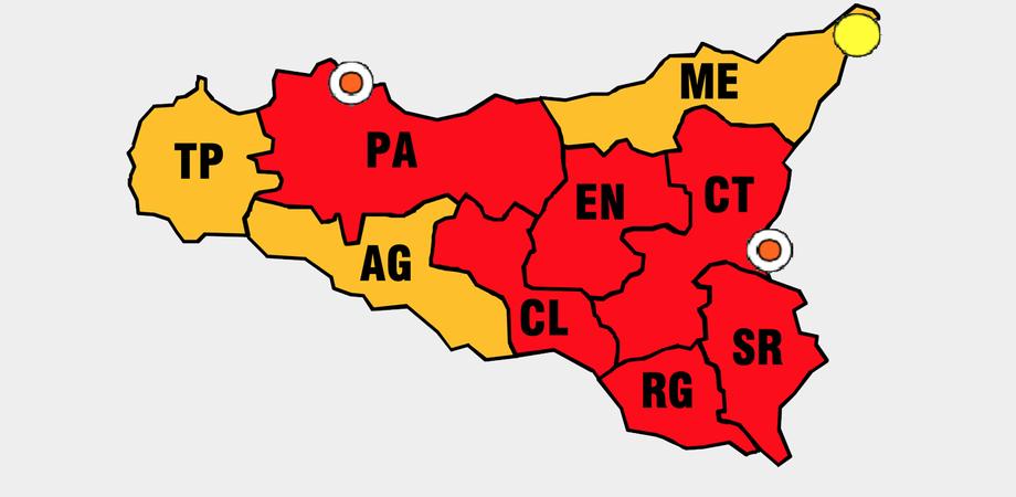 Caldo record e rischio incendi: bollino rosso anche per Caltanissetta