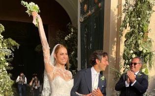 Miriam Leone e Paolo Carullo si sono sposati a Scicli: