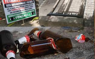 Vandali in azione a San Cataldo, bimbo cade da una panchina: ferite al viso e punti di sutura vicino l'occhio