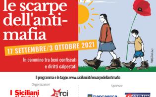 Le scarpe dell'antimafia fanno tappa a San Cataldo, carovana per una nuova legge sui beni confiscati