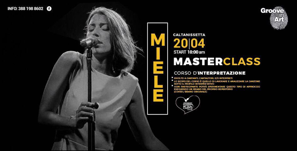 Masterclass di Canto e Interpretazione con MIELE