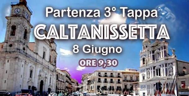 Giro di Sicilia. 3^ tappa - Partenza da Caltanissetta