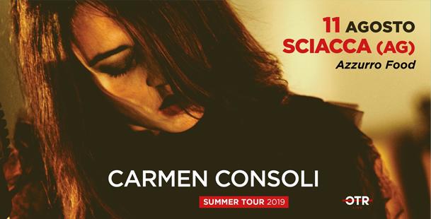 Carmen Consoli - Summer Tour 2019 - Sciacca