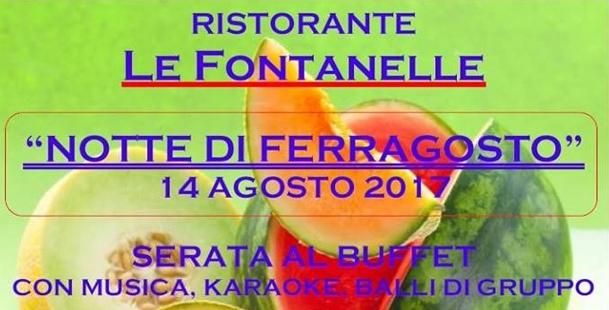 Notte di Ferragosto @Ristorante Le Fontanelle
