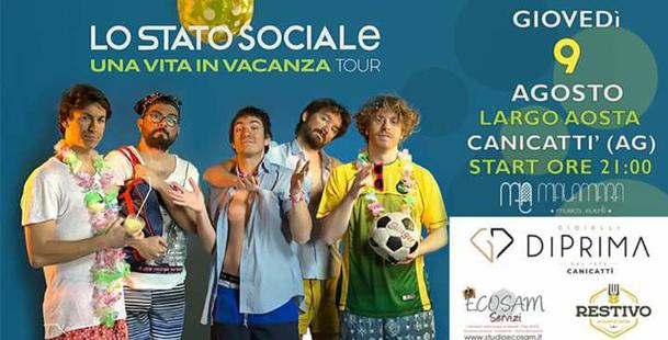 Lo Stato Sociale   Canicattì - Malamara Music Fest
