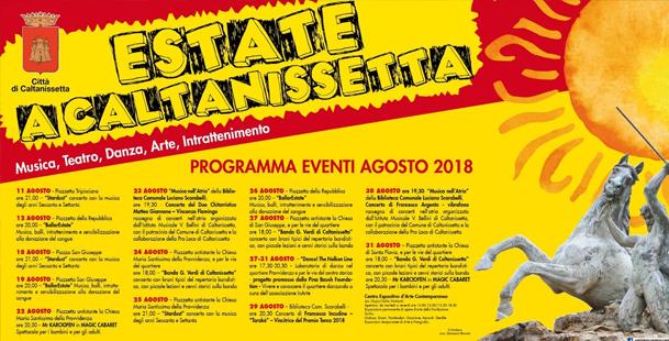 Estate a Caltanissetta 2018 - Agosto
