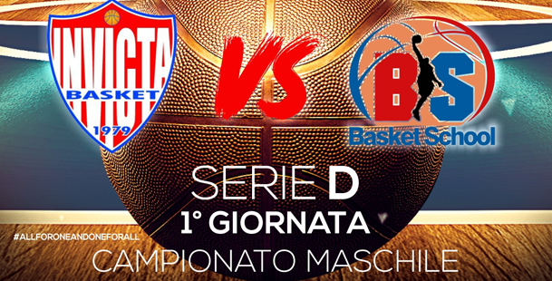 1° Giornata Serie D - A.S.D. Invicta 93cento - Basket School Gela
