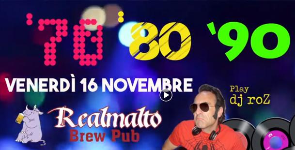 ANNULLATO - NOTTE '70 '80 '90 con DJ roZ