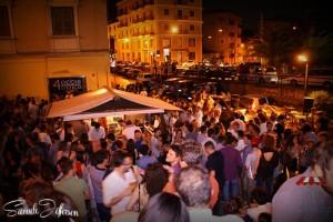 Una serata della precedente edizione di Strata 'a foglia in Fest