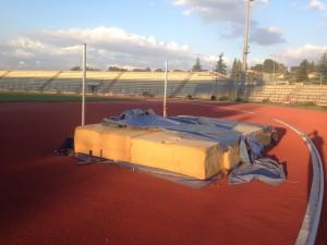 Uno stadio in abbandono