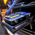 Un etilometro della Polizia Stradale