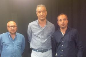 Enzo Mudaro (Uil), Emanuele Gallo (Cisl) e Ignazio Giudice (Cgil)