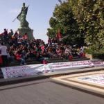 Una manifestazione della Rete degli Studenti a Caltanissetta