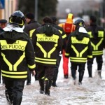 maltempo pioggia vigili del fuoco strade allagate