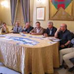 Un momento della conferenza stampa in Municipio