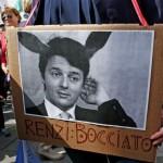 Protesta contro la riforma del Governo Renzi