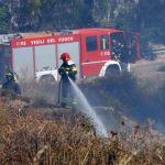 Vigili del fuoco in azione per circoscrivere le fiamme
