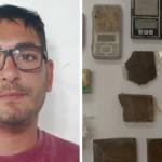 Fabio De Bilio e la droga sequestrata