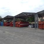 container al centro raccolta rifiuti contrada cammarella