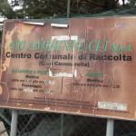 insegna del centro raccolta rifiuti contrada cammarella
