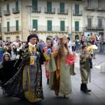 Il corteo in piazza Gairbaldi
