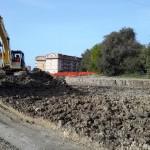 Un'altra immagine dei lavori a San Luca