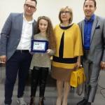Diletta Alonge con Paolo Guttadauro, Sergio Platania e l'Assessore Maria Concetta Naro