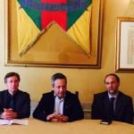 Bellomo, Ruvolo e Tomasella durante la conferenza stampa