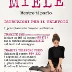 Le istruzioni per votare Miele a Sanremo