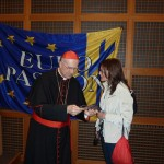 Il cardinal Bertone con il Presidente di Atepa  durante il convegno Europassion