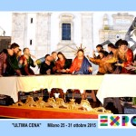 La calamita che celebra l'esposizione della Vara a Expo