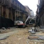 Il cantiere dei lavori in corso Vittorio Emanuele