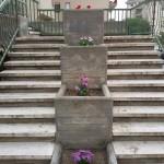 I fiori piantati negli spazi della scalinata