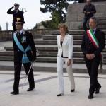 Il colonnello Gerardo Petitto, il prefetto Cucinotta e il sindaco Giovanni Ruvolo