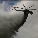 Uno degli interventi aerei (ph: Scirano)