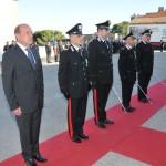 Un momento della premiazione dei carabinieri