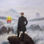 Il Viandante sul mare di nebbia rivisto da Vullo