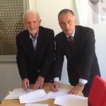 Il Presidente Giovanni Manduca (Cna) e per Enel Energia, il Responsabile Area Mercato Sicilia, Giovanni Delmonte