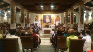 Un momento della cerimonia nella chiesa San Michele