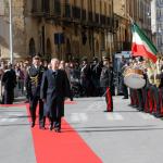Il capo dello Stato in corso Vittorio Emanuele