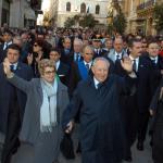 Bagno di folla in corso Umberto per Ciampi e la moglie