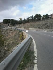 Il tratto di strada dove è stata segnalata la perdita